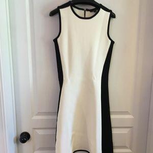 Pink Tartan Black and White Dress